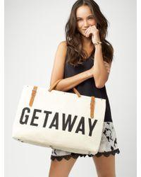 BaubleBar - Getaway Canvas Weekender Bag - Lyst