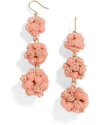 BaubleBar - Floral Crispin Ball Drop Earrings - Lyst