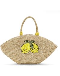 BaubleBar - Lemonade Straw Tote Bag - Lyst