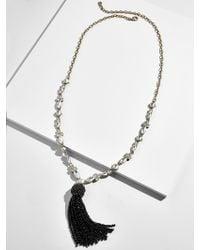 BaubleBar - Ivaleine Tassel Pendant Necklace - Lyst