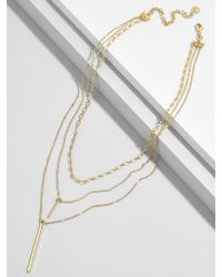 BaubleBar - Stelina Layered Y-chain Necklace - Lyst