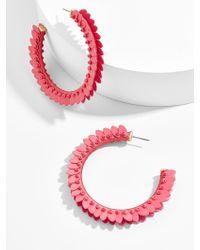 BaubleBar - Fiona Hoop Earrings-pink - Lyst