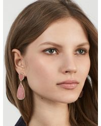 BaubleBar - Moonlight Druzy Drop Earrings - Lyst