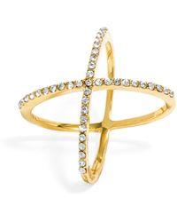 BaubleBar - Crystal Mason Ring - Lyst