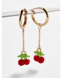 BaubleBar Cherry Chain Link Drop Earrings - Multicolour