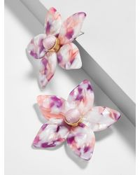 BaubleBar - Amariella Flower Stud Resin Earrings-lilac - Lyst