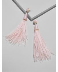 BaubleBar - Chateau Feather Earrings - Lyst