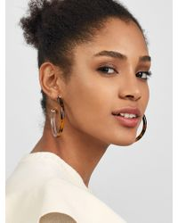 BaubleBar - Leia Resin Hoop Earrings - Lyst