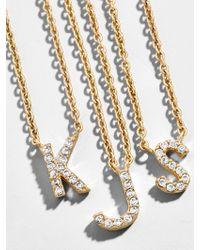 BaubleBar - Precious Alpha Pendant Necklace - Lyst