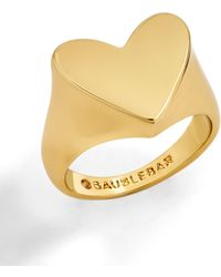 BaubleBar - Love You Heart Ring - Lyst