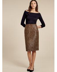 Baukjen - Cristina Leopard Skirt - Lyst