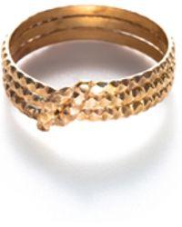 Baukjen - By Boe Knotted Scalloped Midi Ring - Lyst