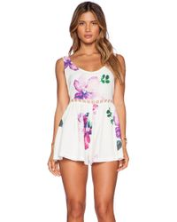 Toby Heart Ginger - Floral Dreaming Playsuit - Lyst