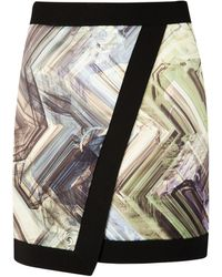 Ted Baker Parquet Geo Print Wrap Skirt - Lyst