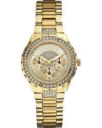 Guess Viva Goldtoned Watch Gold - Lyst