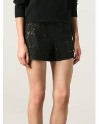 Alice + Olivia Laser Cut Paisley Shorts - Lyst