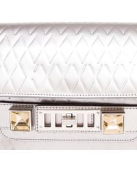 Proenza Schouler Quilted Silver Leather Shoulder Bag - Lyst