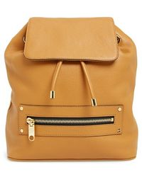Milly Women'S 'Astor' Leather Backpack - Brown - Lyst