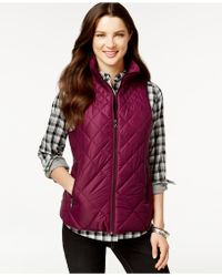 G.H.BASS - Packable Quilted Vest - Lyst