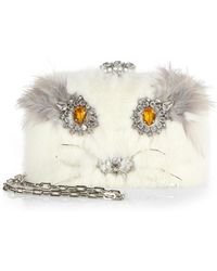 prada replica wallets - Prada Fox Fur Messenger Bag in Beige (NATURALE)   Lyst