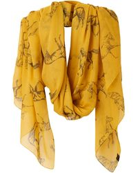 Joules - Wensley Horse Print Scarf - Lyst