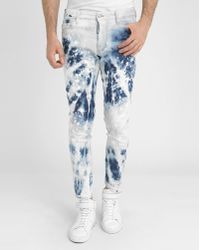 DSquared² Tidy Biker Destroy Paint Jeans blue - Lyst