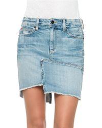 Joe's Jeans Asymmetrical Hem Denim Skirt - Lyst