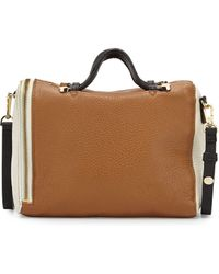 Halston Heritage Leather Baby Satchel with Strap - Lyst