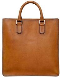 933434f320 Giorgio Armani - Brushed Saffiano Leather Tote Bag - Lyst