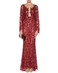 Zuhair Murad Beaded & Embroidered Sweetheart Gown - Lyst