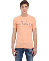 DSquared2 Prisoner Printed Cotton Blend Tshirt - Lyst