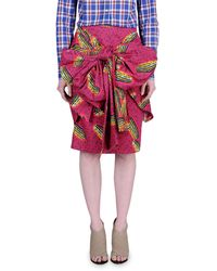 Stella Jean Knee Length Skirt - Lyst