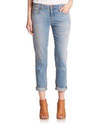 Eileen Fisher Organic Cotton Boyfriend Jeans - Lyst