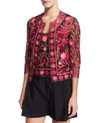 Naeem Khan - Petite Sleeveless Thread-embroidered Top - Lyst