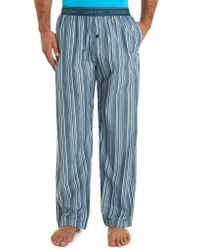 Calvin Klein Blue Stripe Woven Pyjama Pant - Lyst