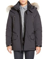 Tumi - 'fully Loaded' Parka With Genuine Coyote Fur Trim - Lyst