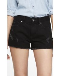Express 2 Inch High Rise Cutoff Denim Shorts - Lyst