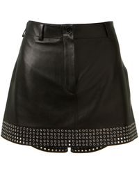 Azzedine Alaïa Black Leather Shorts - Lyst