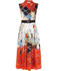 Preen Darwen Geometric And Insect-Print Dress - Lyst
