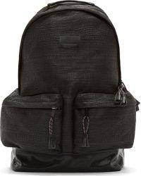 d037ab59b1a7 Kris Van Assche - Black Woven Backpack - Lyst
