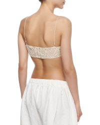 Adam Lippes - Crinkled Lace Bralette - Lyst