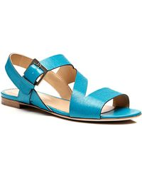 Sergio Rossi Zed Textured Leather Sandals - Lyst