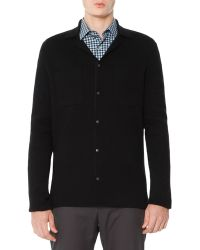 Lanvin Snap-Front Cardigan Sweater - Lyst