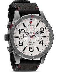 Nixon The 4820 Chrono Leather Strap Watch 48mm - Lyst