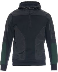 Tim Coppens - Leather And Nylon Lightweight Hooded Jumper - Lyst
