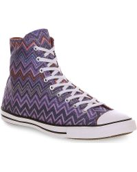 Converse Missoni Fancy Hi Top Trainers - Lyst