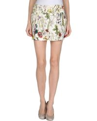 Gucci W Mini Skirt - Lyst