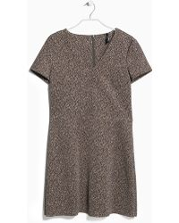 Mango Printed Neoprene Dress - Lyst