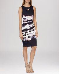 Karen Millen Dress - Tie-Dye Signature Stretch black - Lyst