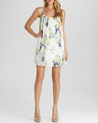 BCBGeneration Dress - Strappy Pleated Printed - Lyst